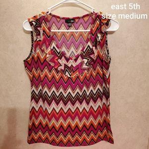 East 5th size medium sleeveless top
